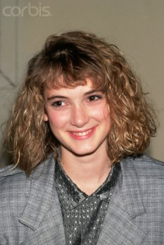 1987 --- Actress Winona Ryder with blond hair. --- Image by © CORBIS